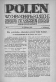 Polen. Wochenschrift für polnische Interessen. 1915, Jg. 1, Bd. I, Nr 3