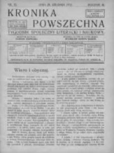 Kronika Powszechna. Tygodnik społeczny literacki i naukowy, 1912, II, T.3, Nr 52