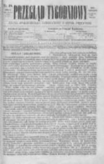 Przegląd Tygodniowy Życia Społecznego Literatury i Sztuk Pięknych 1869, R.IV, Nr 18