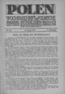 Polen. Wochenschrift für polnische Interessen. 1916, Jg. 2, Bd. VI, Nr 68