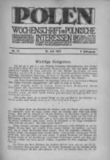Polen. Wochenschrift für polnische Interessen. 1915, Jg. 1, Bd. III, Nr 31