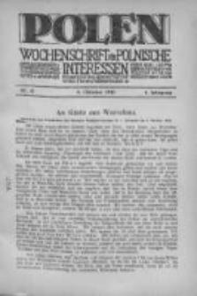 Polen. Wochenschrift für polnische Interessen. 1915, Jg. 1, Bd. IV, Nr 41