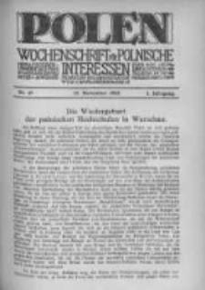 Polen. Wochenschrift für polnische Interessen. 1915, Jg. 1, Bd. IV, Nr 47