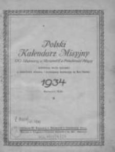 Polski Kalendarz Misyjny OO. Trapistów w Mariannhill w Południowej Afryce R. 43, 1934