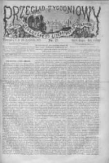 Przegląd Tygodniowy Życia Społecznego Literatury i Sztuk Pięknych 1872, R.VII, Nr 17