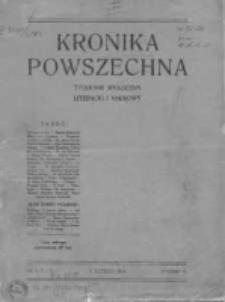 Kronika Powszechna. Tygodnik społeczny literacki i naukowy, 1914, R.5, Nr 1-3