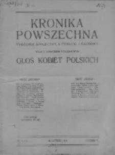 Kronika Powszechna. Tygodnik społeczny literacki i naukowy, 1914, R.5, Nr 4-5