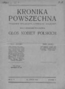 Kronika Powszechna. Tygodnik społeczny literacki i naukowy, 1914, R.5, Nr 6-7