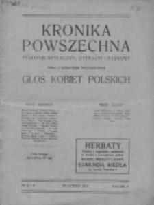 Kronika Powszechna. Tygodnik społeczny literacki i naukowy, 1914, R.5, Nr 8-9