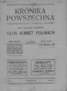 Kronika Powszechna. Tygodnik społeczny literacki i naukowy, 1914, R.5, Nr 13