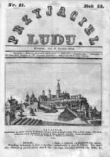 Przyjaciel Ludu czyli Tygodnik potrzebnych i pożytecznych wiadomości 1846, R.13, Nr 15