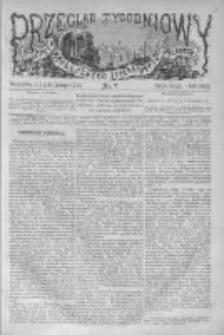 Przegląd Tygodniowy Życia Społecznego Literatury i Sztuk Pięknych 1873, R.VIII, Nr 7