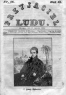 Przyjaciel Ludu czyli Tygodnik potrzebnych i pożytecznych wiadomości 1846, R.13, Nr 46
