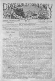 Przegląd Tygodniowy Życia Społecznego Literatury i Sztuk Pięknych 1873, R.VIII, Nr 11