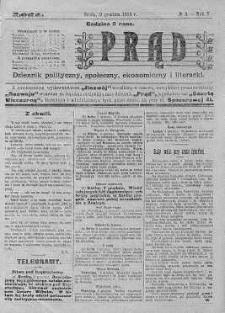 Prąd : dziennik polityczny, społeczny, ekonomiczny i literacki 9 grudzień R. 5. 1914 nr 4