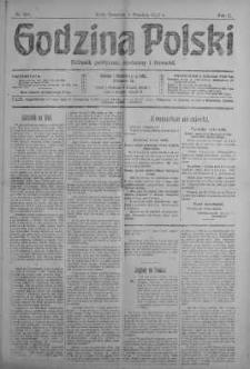 Godzina Polski : dziennik polityczny, społeczny i literacki 6 wrzesień 1917 nr 244