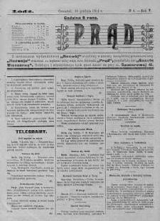 Prąd : dziennik polityczny, społeczny, ekonomiczny i literacki 10 grudzień R. 5. 1914 nr 4a