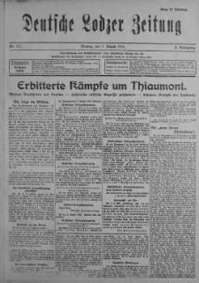 Deutsche Lodzer Zeitung 7 sierpień 1916 nr 217