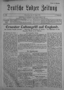 Deutsche Lodzer Zeitung 10 sierpień 1916 nr 220