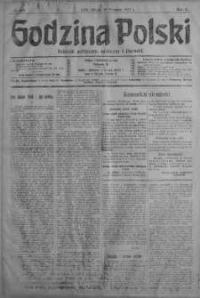 Godzina Polski : dziennik polityczny, społeczny i literacki 29 wrzesień 1917 nr 267