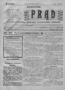 Prąd : dziennik polityczny, społeczny, ekonomiczny i literacki 30 grudzień R. 5. 1914 nr 19
