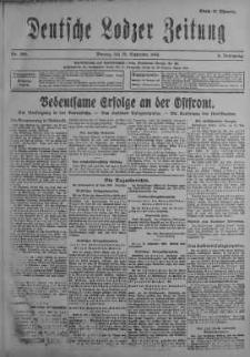 Deutsche Lodzer Zeitung 18 wrzesień 1916 nr 259