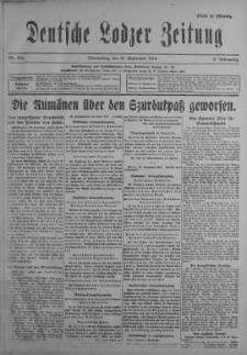 Deutsche Lodzer Zeitung 21 wrzesień 1916 nr 262