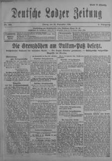 Deutsche Lodzer Zeitung 22 wrzesień 1916 nr 263