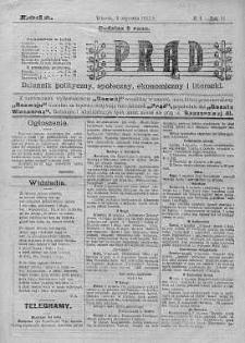 Prąd : dziennik polityczny, społeczny, ekonomiczny i literacki 5 styczeń R. 6. 1915 nr 4
