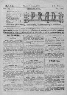 Prąd : dziennik polityczny, społeczny, ekonomiczny i literacki 19 styczeń R. 6. 1915 nr 18