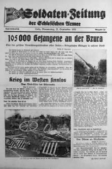 Soldaten = Zeitung der Schlesischen Armee 20 September 1939 nr 14