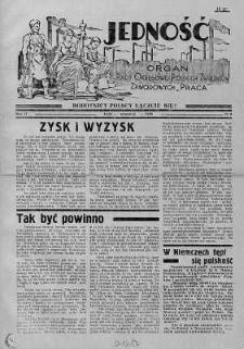 Jedność: organ Rady Okręgowej Polskich Związków Zawodowych Praca wrzesień 1938 nr 9