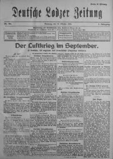 Deutsche Lodzer Zeitung 10 październik 1916 nr 281
