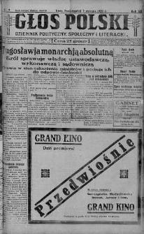 Głos Polski : dziennik polityczny, społeczny i literacki 7 styczeń 1929 nr 7