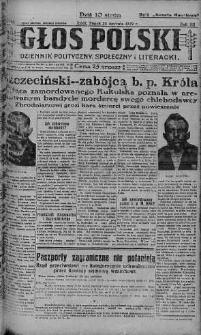Głos Polski : dziennik polityczny, społeczny i literacki 25 styczeń 1929 nr 25