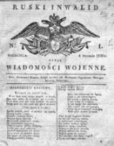 Ruski inwalid czyli wiadomości wojenne 1820, Nr 1