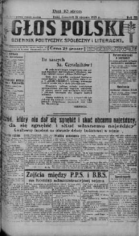 Głos Polski : dziennik polityczny, społeczny i literacki 31 styczeń 1929 nr 31