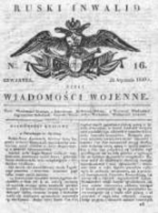 Ruski inwalid czyli wiadomości wojenne 1820, Nr 16