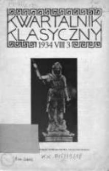 Kwartalnik Klasyczny 1934, R. VIII, Nr 3