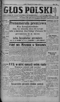 Głos Polski : dziennik polityczny, społeczny i literacki 26 luty 1929 nr 56