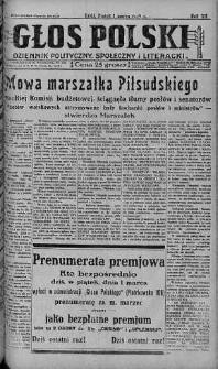 Głos Polski : dziennik polityczny, społeczny i literacki 1 marzec 1929 nr 59