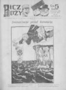 Bicz Boży. Tygodnik Satyryczno-Humorystyczny 1918, R. X, Nr 16