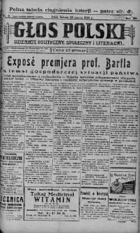 Głos Polski : dziennik polityczny, społeczny i literacki 23 marzec 1929 nr 81