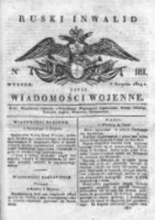 Ruski inwalid czyli wiadomości wojenne 1819, Nr 181