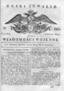 Ruski inwalid czyli wiadomości wojenne 1819, Nr 190