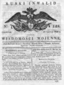 Ruski inwalid czyli wiadomości wojenne 1820, Nr 148