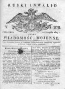 Ruski inwalid czyli wiadomości wojenne 1819, Nr 278