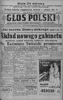 Głos Polski : dziennik polityczny, społeczny i literacki 14 kwiecień 1929 nr 101