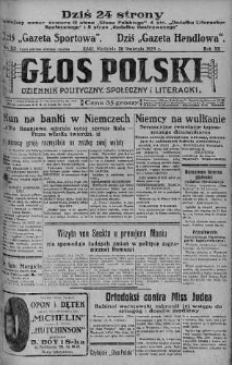 Głos Polski : dziennik polityczny, społeczny i literacki 28 kwiecień 1929 nr 115