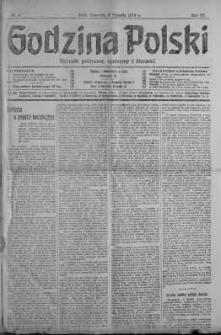 Godzina Polski : dziennik polityczny, społeczny i literacki 3 styczeń 1918 nr 3